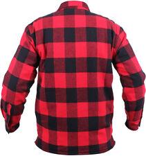 Plaid Flannel Shirt SHERPA Lined Extra Heavy Brawny Buffalo Check Lumberjack Top