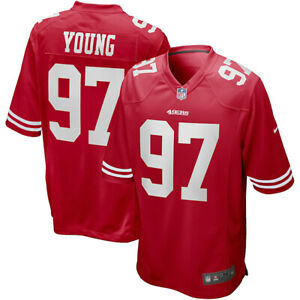 New 2021 NFL Bryant Young San Francisco 49ers Nike Game Retired Player Jersey