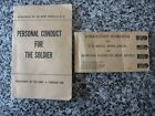 VINTAGE DEPT OF THE ARMY BOOKS PERSONAL CONDUCT FOR THE SOLDIER & RIFLE 2 BOOKSOriginal Period Items - 13981