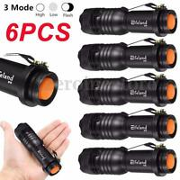 Elfeland 6000Lm Super Bright Q5 LED Flashlight Torch Zoomable 14500/AA Lamp