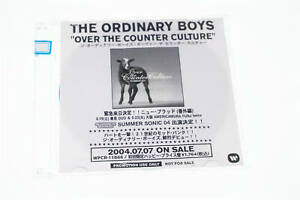 "THE ORDINARY BOYS ""OVER THE COUNTER CULTURE PROMO CD-R CD A9388"
