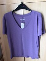 Ladies Lilac Matks And Spencer Tshirt Size 8