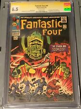 FANTASTIC FOUR #49 CGC 6.5 SIG SERIES STAN LEE SILVER SURFER & GALACTUS COVER