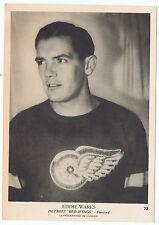 1939-40 O-Pee-Chee V301-1 Eddie Wares # 73 Detroit Red Wings (5 x 7 card) ExMt