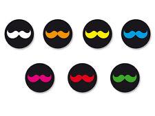 Lot Pack Badge Button Ø38mm Symbole Moustache Mustache Hipster Vintage