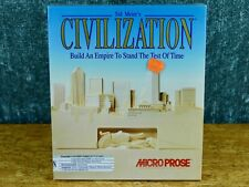 SEALED Sid Meier's Civilization (Apple Mac, 1991 1992) BIG BOX floppy microprose