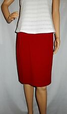 """BROWN SUGAR"" - Excellent PreOwned - Size 10 - Little ""RED"" Short A Line Skirt"