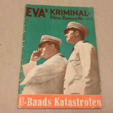 """Nitchevo Harry Baur Chantal Vtg 1944 Danish Movie Novel """"EVAs Kriminal Films"""""""