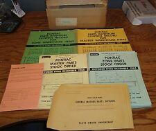 Original October-December 1965 Pontiac Parts Inventory Control Record w/Box