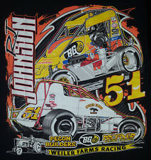 RJ Johnson Medium T Shirt Sprint Car Racing 51 Weiler Farms