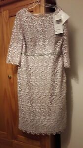 Mother of Bride/Groom dress by Mon Cheri BNWT size 20 in Oyster