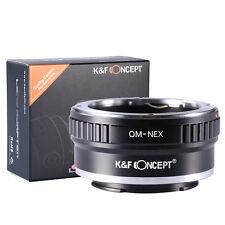 K&F Olympus OM Lente per Sony NEX-3 NEX-5 E Mount Camera Anello Adattatore