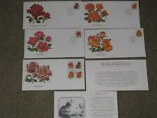 "Fleetwood First Day Covers  ""THE GLORY OF ROSES"" Collection  Set of 5 (1979)"
