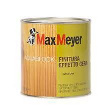 MAX MEYER AQUABLOCK FINITURA EFFETTO CERA A SOLVENTE filtro anti UV legno