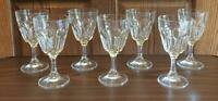 VINTAGE Arcoroc Clear 8 oz. Drinking Glass Goblets FRANCE 7-Piece Set