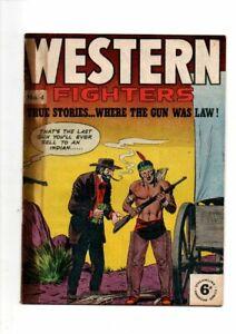 WESTERN FIGHTERS  No  4   1960s   SILVER  AGE ENGLISH COMIC  FINE