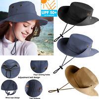 Men Women UV Protection Sun Visor Hat Cap Wide Brim Floppy Hat For Beach Camping