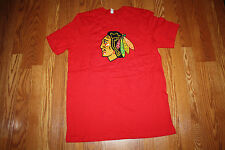NWT Official Licensed NHL CHICAGO BLACKHAWKS Hockey Red T-Shirt L Large