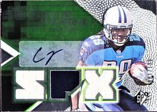 RARE CHRIS JOHNSON 2008 SPx GREEN HOLOFOIL ROOKIES #153 /199, AUTO JERSEY SP $25
