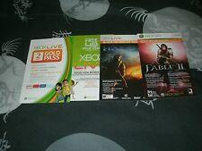 Xbox Live Gold Trial Cards Lot Of Four READ ENTIRE DESCRIPTION