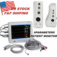 Multi-Parameter Vital Signs Patient Monitor Medical ECG TEMP SPO2 NIBP RESP PR