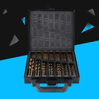 Titanium Coated HSS Drill Bit Set 99 Pc Piece With Case Wood Metal Kit