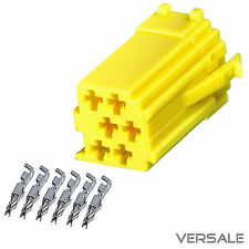 Mini ISO adaptador de enchufe AMARILLO 6 pin autoradio Vw Audi Seat Skoda BECKER