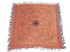 19th siècle antique Cachemire Paisley Châle Écharpe deux côtés 113x110cm (L310)