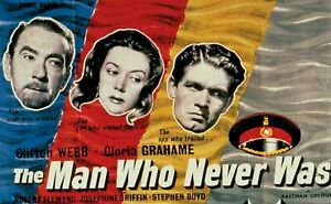 THE MAN WHO NEVER WAS DVD 1956 CLIFTON WEBB GLORIA GRAHAME FLEMYMG