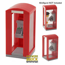 LEGO Telephone Box- Modern design - Red Phone Booth - for City/Town - NEW