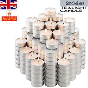 Tea Lights 8 Hour Long Burn Night Light Candles Unscented Tealights 10/20/50/100