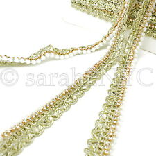 Gold Pearl Edging Beaded Fabric Trim trimming,Embellishment,co stume,pageant,Art