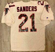 Deion Sanders vtg Authentic 90's Atlanta Falcons Nfl Russell Jersey 48 *Read