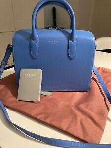 RADLEY London Damen Handtasche hellblau neu Echtleder, Neupreis Lag Bei 169€.
