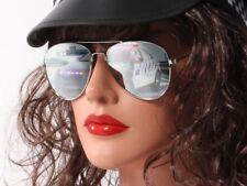 Piloten-Brille Verspiegelt Sonnenbrille Porno-Brille Fliegerbrille silber 705