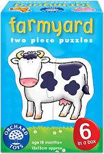 Orchard Toys Farmyard Baby/Toddler/Child Easy Puzzle Jigsaw Animals Box BNIB