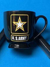 US ARMY Army Strong Go Army Black Ceramic Coffee Mug Cup 16 oz