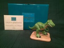 """Wdcc Toy Story - Rex """"I'm So Glad You're Not A Dinosaur"""" + Box & Coa"""