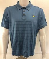 [K7] Masters Augusta Clubhouse Collection Blue Golf Polo Shirt Italy Men's L