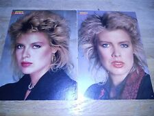 KIM WILDE GERMAN POSTERS BRAVO TEEN MAGAZINE 1980´TIES OUT OF PRINT SCARCE RARE