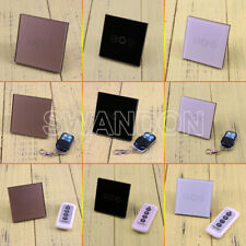 1 Gang 1Way Dimmer Crystal Glass Remote Control Touch LED Wall Light Switch
