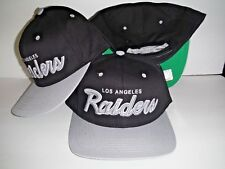e95a9957a60 Los Angeles Raiders Script 3D Snapback NEW Authentic LA Hat Oakland Cap NFL