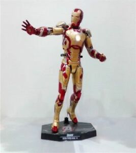 1/6th Scale Iron Man Mark XLII MK42 with LED Light Collectible Figure Model Toys