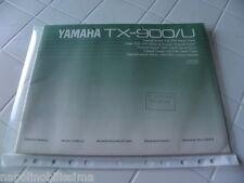 Yamaha TX-900/U Owner's Manual  Operating Instruction   New
