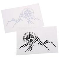 16*9cm Compass Mountains Car Sticker Personality Vinyl Decal Black White  WF