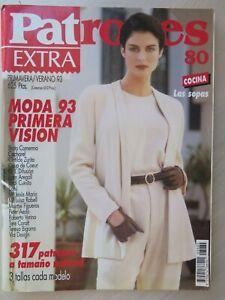 MAGAZINE REVISTA PATRONES n 80 EXTRA PRIMAVER-VERANO 1993