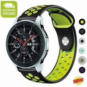 22mm Silikon Armband Uhrenarmbänder Für Samsung Gear S3/Galaxy Watch 46mm DE