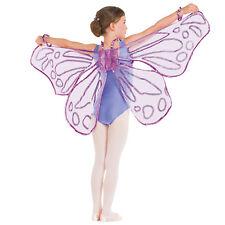 Glitter viola Floaty ali di fata-Farfalla Costume Da Ballo