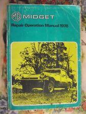 GENUINE BRITISH LEYLAND WORKSHOP MANUAL MG MIDGET 1978/79 AKM4071 REPAIR BOOK