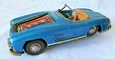 Well Loved Vintage Mercedes Tin Litho Friction Toy Car AS IS
